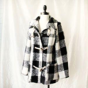 Plaid Duffle Coat